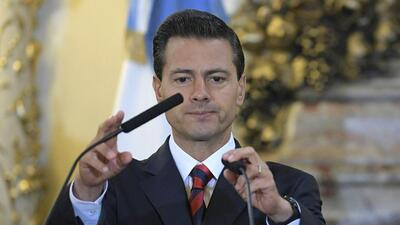 Mexican Presidente Enrique Peña Nieto during a visit to Argentina in Jul...