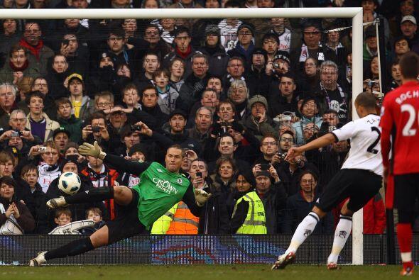 El resultado fue Fulham 3- Blackburn 2. Bobby Zamora, de penal, marcó el...