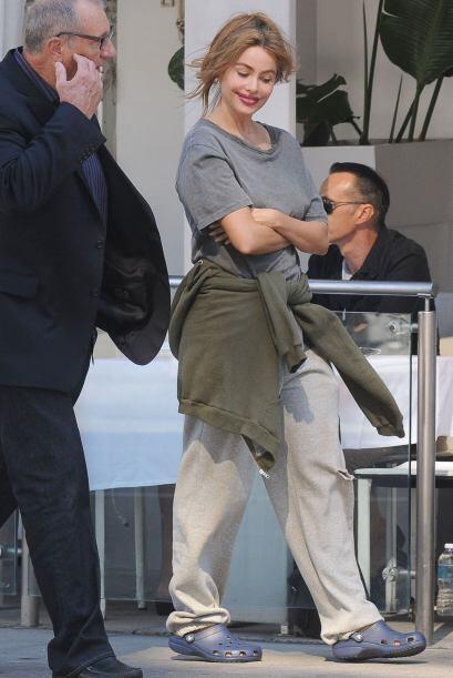 Sofía se encontraba grabando una escena para la seria 'Modern Family'.