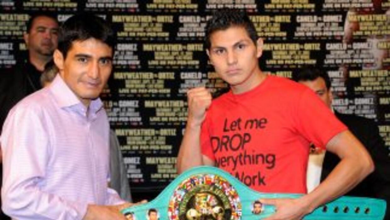 Erik Morales y Pablo César Cano en Las Vegas.
