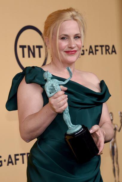 Patricia Arquette, mejor actriz de reparto en cine por 'Boyhood'.