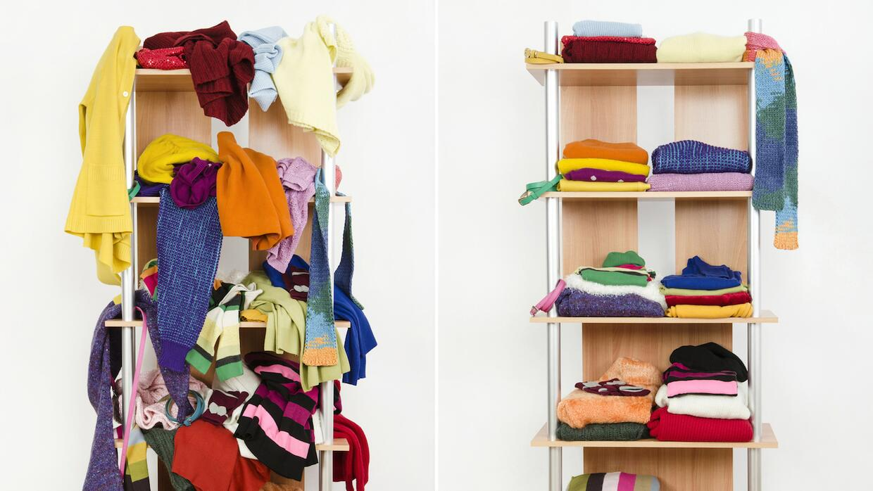Declutter your closet of the old and make space for the new