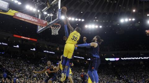 Kevin Durant comandó la victoria de los Golden State Warriors sob...