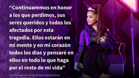Ariana Grande comunicado
