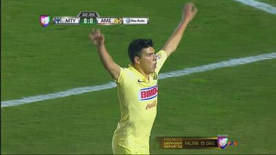 Monterrey vs. América: Gol de Mendoza pone arriba a las Aguilas