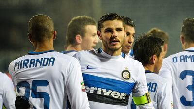 Mauro Icardi marcó el gol del triunfo interista.