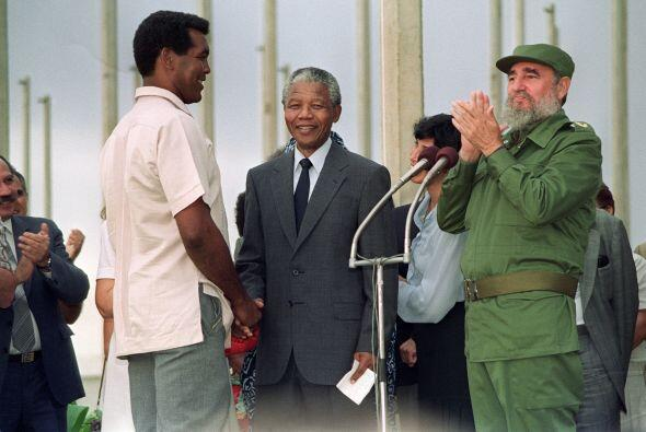 Nelsón Mandela visitó Cuba en 1991, unos meses despu&eacut...