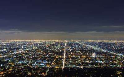 Los Ángeles, de noche.