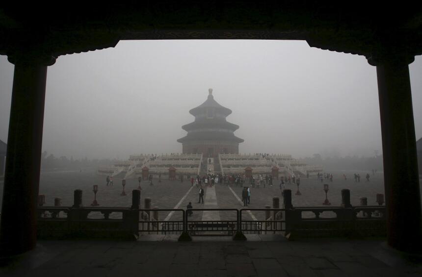 Mientras los líderes hablan de clima en París, el smog arropa a Pekín y...