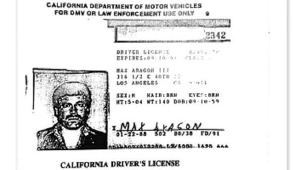 Licencia de manejo de California de 'El Chapo'.