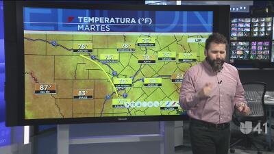 Baja la temperatura en San Antonio este martes