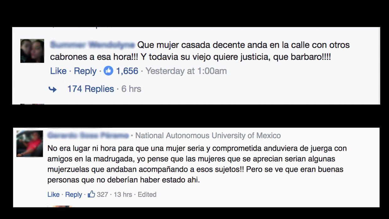 Algunos de los comentarios de odio en redes sociales contra Karla Saldañ...