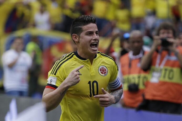 Colombia, el refugio de un James olvidado por el Real Madrid AP_17082816...