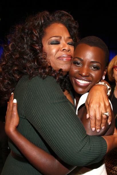 Y se nota que a Oprah le dio un tremendo gusto saludarla también.