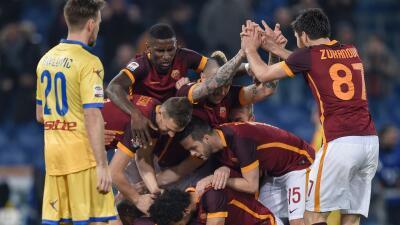 Roma celebra su primer triunfo del año