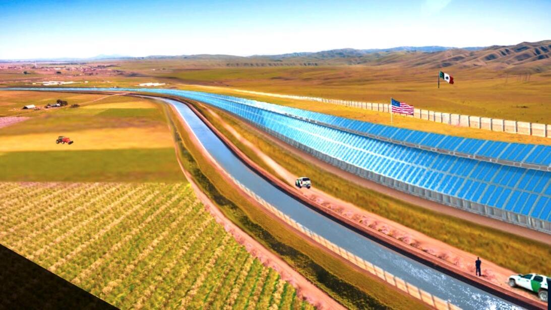 Acueducto de flujo constante a lo largo del lado americano para suminist...