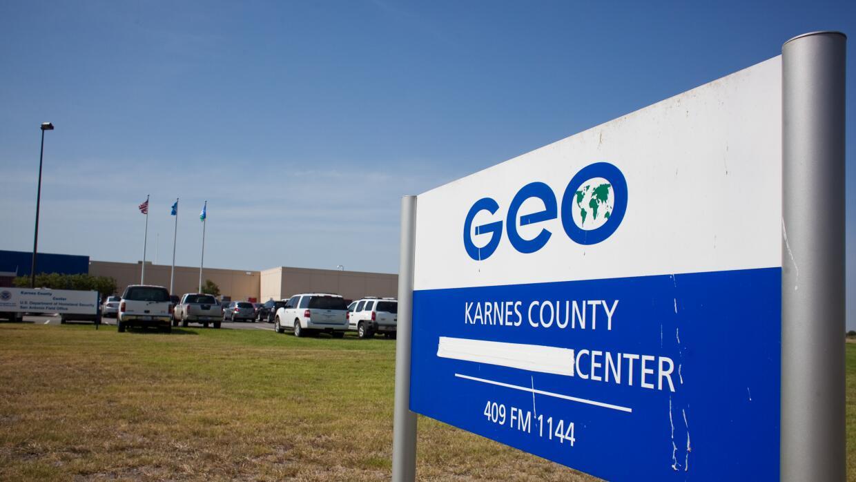 Instalaciones del centro de detención en Karnes City.