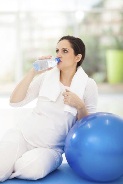 Siempre mantente hidratada antes, durante y después del ejercicio...