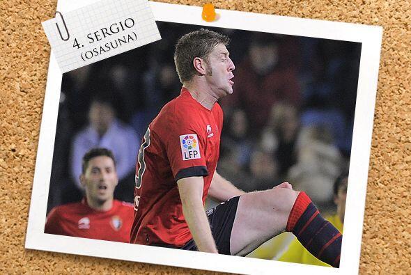 El español Sergio fue el héroe del Osasuna al incorporarse desde la defe...