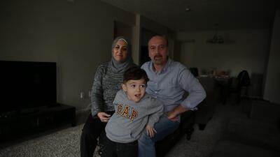 La rutina de una familia siria que espera su caso de asilo en EEUU