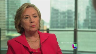 Hillary Clinton declaró que aboga por 'levantar el embargo a Cuba'