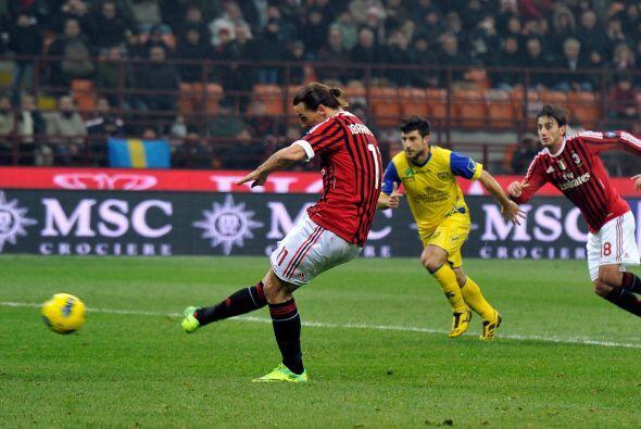 Finalmente, el propio 'Cazador' Ibrahimovic cobró un penalti.