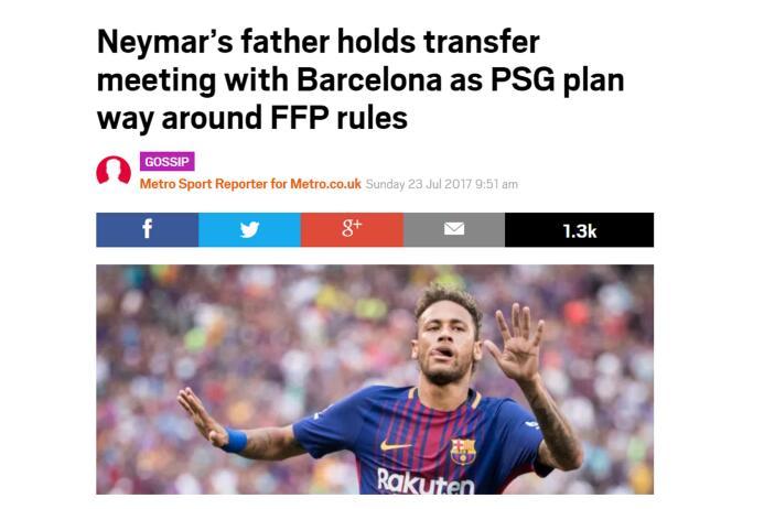 Aquí está la fórmula financiera del papá de Neymar para llevárselo al PS...