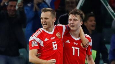 Rusia, Israel y Montenegro también ganaron en el domingo de UEFA Nations League