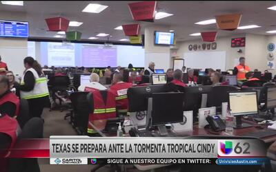 Gobernador de Texas activa alerta a nivel 3 por la tormenta tropical Cindy