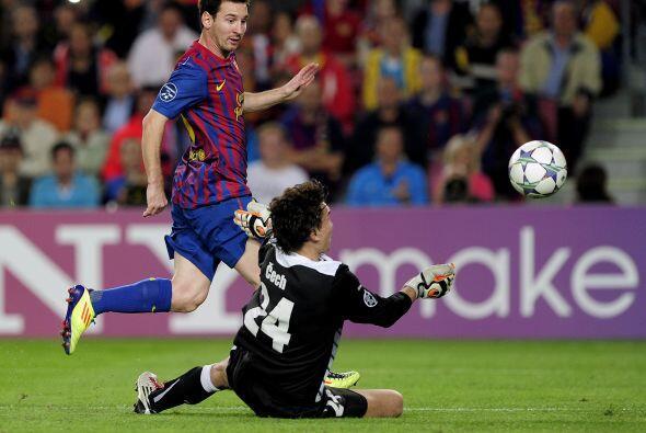 Messi fue el que más buscó el gol pero no tuvo suerte.