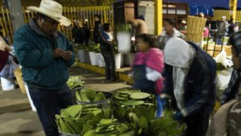 Un comerciante en México.