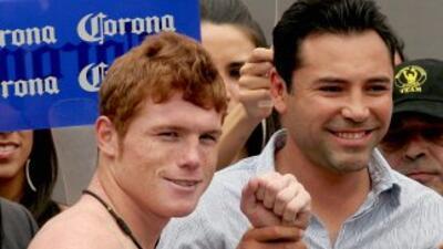 Dela Hoya quiere una pelea entre 'Canelo' Alvarez y Matthew Hatton.