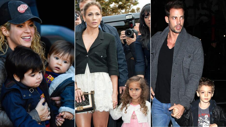 Famosos y sus hijos Shakira JLo William Levy