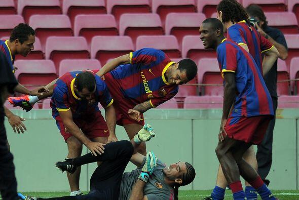 Los mismo pasa en las practicas del Barcelona. El equipo 'culé' se divie...