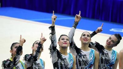 En fotos: México y su medalla de oro en la gimnasia rítimica por equipos