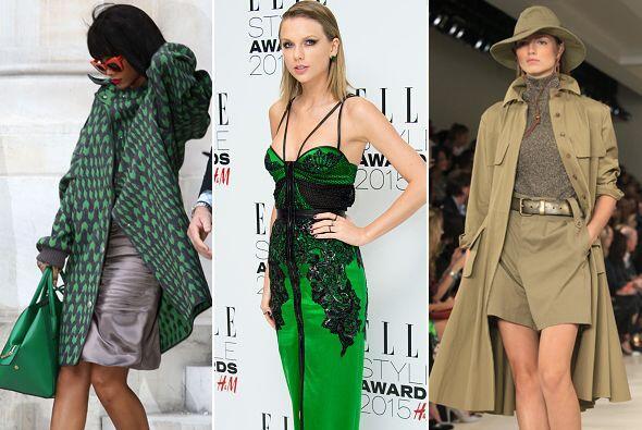 En todas sus tonalidades, el verde es símbolo de elegancia, checa alguno...
