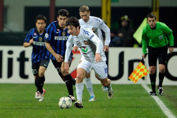 El Inter de Milán también estaba entre los calificados y era local ante...