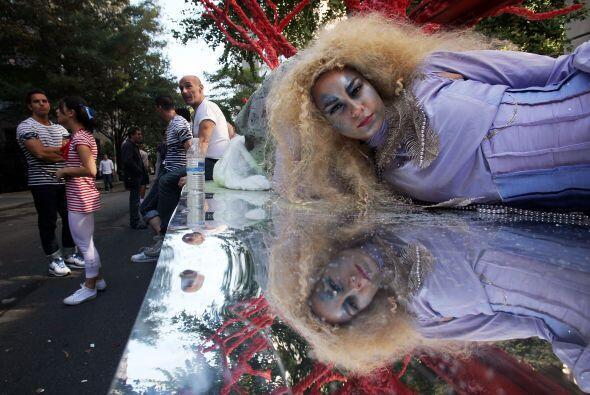 Las sirenas de Studio Festi fueron una de las atracciones del desfile.
