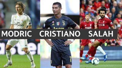 ¿Y Messi?: Cristiano, Modric y Salah, los tres candidatos a Mejor Jugador del Año de la UEFA