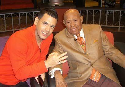 Tito El Bambino compartió con Milito que acaba de cumplir 103 años de edad.