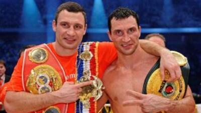 Los hermanos ucranianos, Vitaly y Vladimir Klitschko, acaparan los títul...