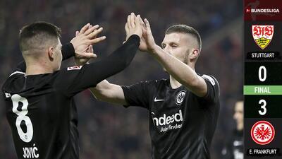 El Eintracht Frankfurt se lleva una cómoda victoria en el patio del Stuttgart
