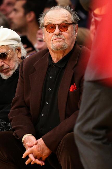 Jack Nicholson es sin lugar a dudas el fanático número 1 de los Lakers d...