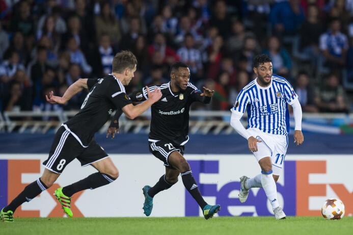 Real Sociedad con Carlos Vela, dominantes con goleada en arranque de Eur...