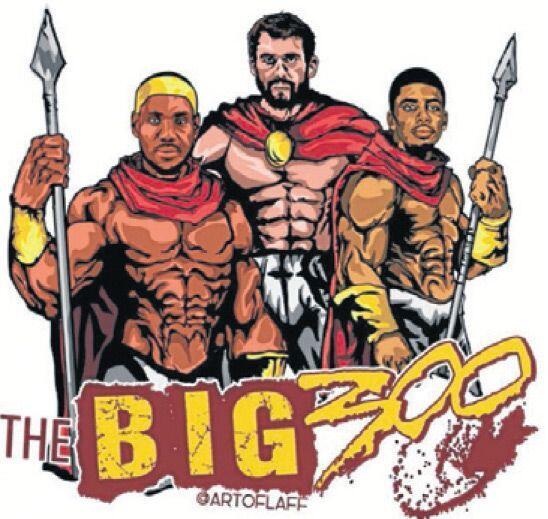 LeBron James como '300'