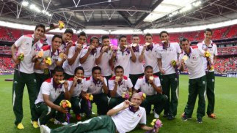 Selección Mexicana ganadora de la Medalla de Oro en Londres 2012.