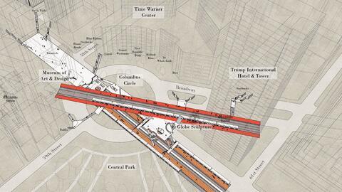 Un bosquejo de la estación 59th Street–Columbia Circle en Nueva Y...