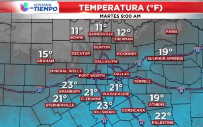 Bajas temperaturas para este martes.