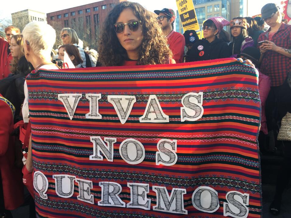 Ximena Malaga Sabogal, peruana que cursa su doctorado en NYU, dijo manif...
