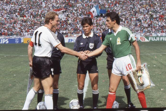 El segundo enfrentamiento contra los alemanes fue en el Mundial de Méxic...